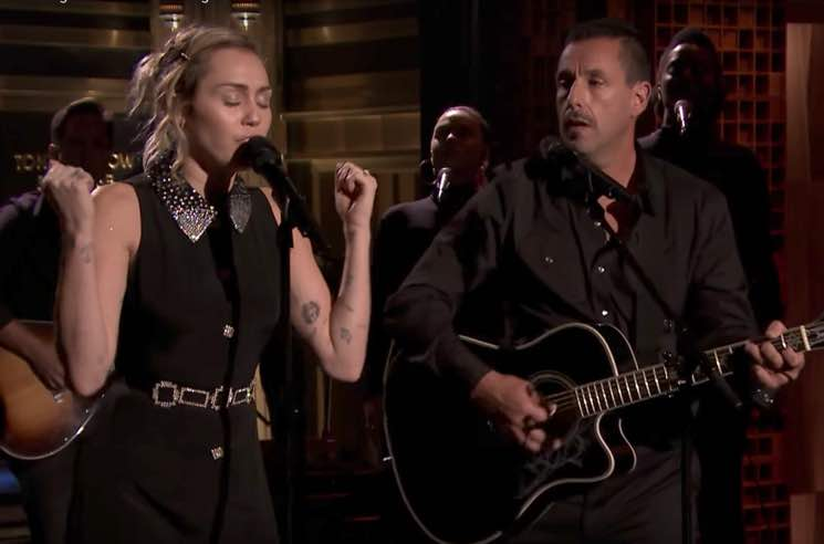 Miley Cyrus and Adam Sandler Covered Dido on 'Fallon'