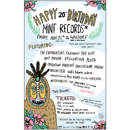 Maow, Pluto, the Gay, Operation Makeout and Members of Cub Reunite for Mint Records' 20th Anniversary Concert