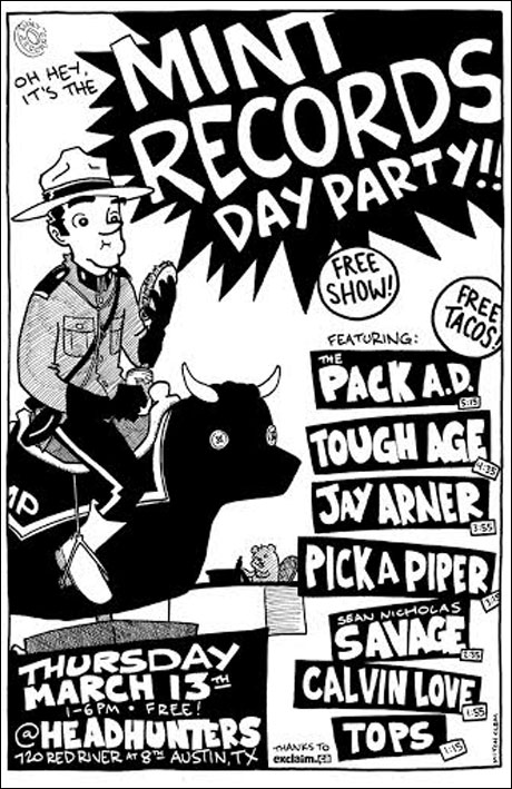 Mint Records Announces Free SXSW Day Party with the Pack A.D., Sean Nicholas Savage, Jay Arner, Tough Age
