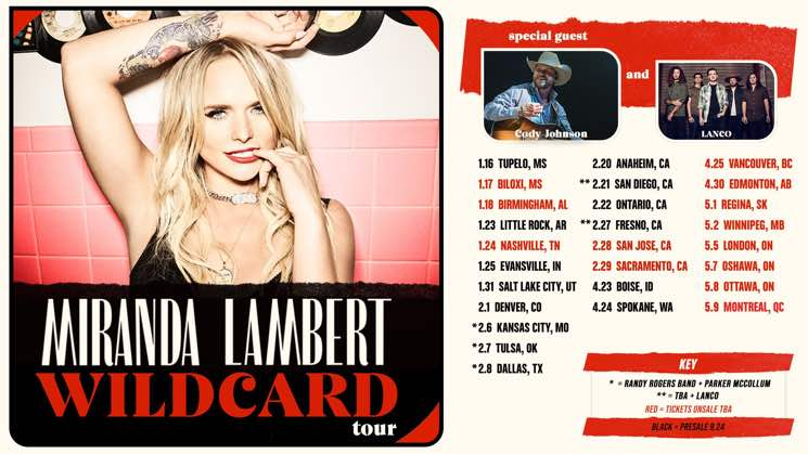 "Miranda Lambert Is Coming to Canada on ""Wildcard Tour"""