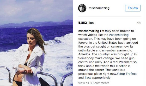 Mischa Barton Speaks Out Against Police Brutality and Institutional Racism in the Weirdest Way Possible