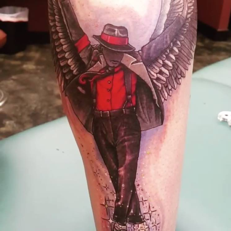 "​Michael Jackson's Son Unveils ""Beautiful"" and ""Incredible"" Angel Tattoo of His Father"