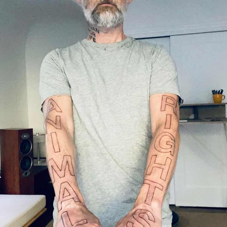 Moby Got More Vegan Tattoos Just in Case You Forgot He's Vegan