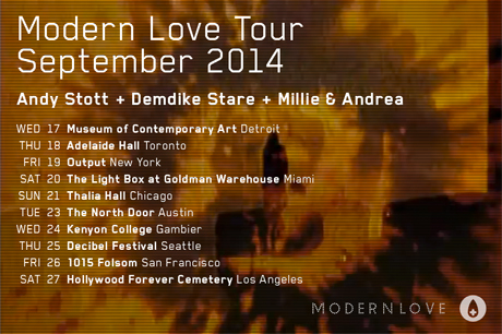 Andy Stott and Demdike Stare Team Up for Modern Love Tour