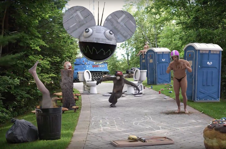 "Deadmau5 Throws a Surreal House Party in His ""Monophobia"" Video"