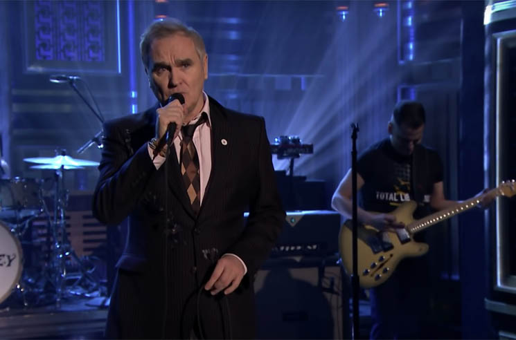 Morrissey Wears Far-Right 'For Britain' Pin on 'Fallon'