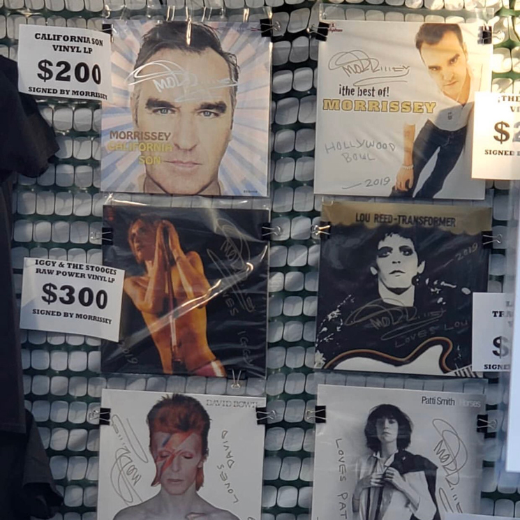 Morrissey Signed Other People's Albums to Sell as Merch