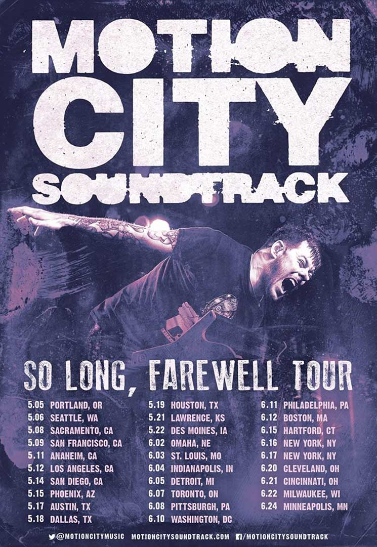 "Motion City Soundtrack Reveal ""So Long, Farewell"" Tour Dates"