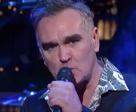 Morrissey 'Action Is My Middle Name' (live on ' Letterman')