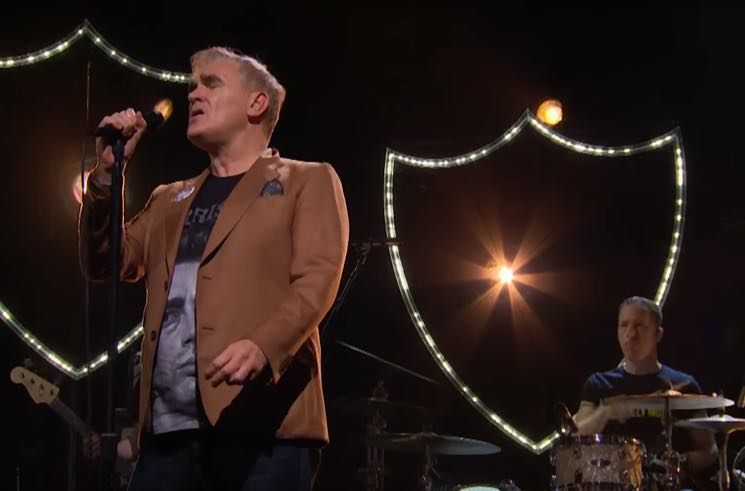 ​Morrissey Showed Up to 'Corden' Wearing His Own Merch