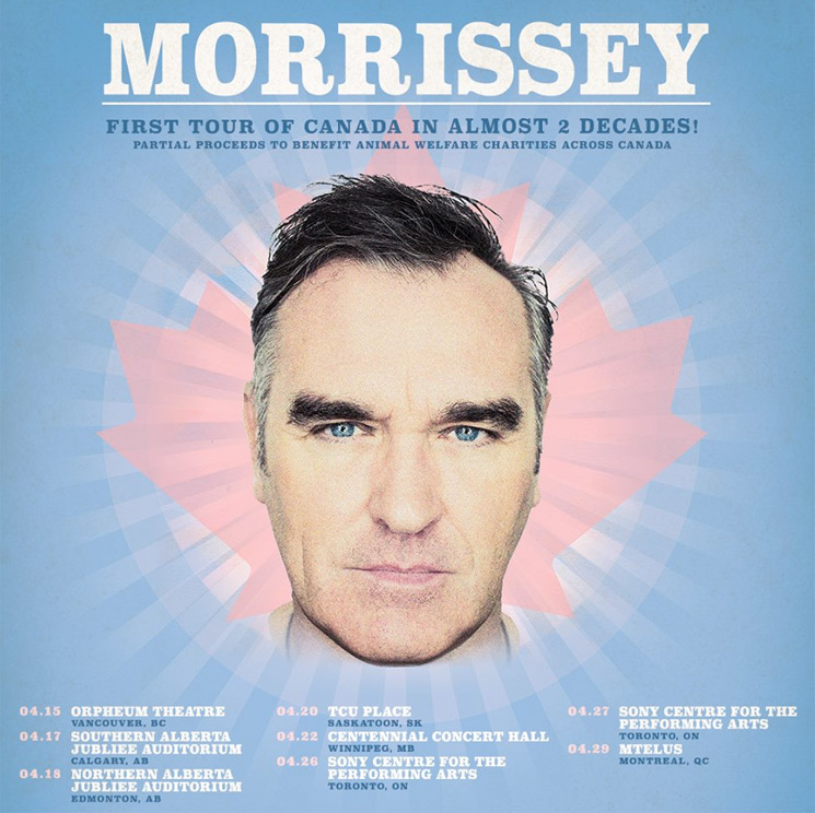 Morrissey Postpones Canadian Tour Dates