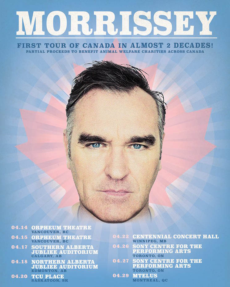 ​Morrissey Announces First Canadian Shows in More Than 15 Years