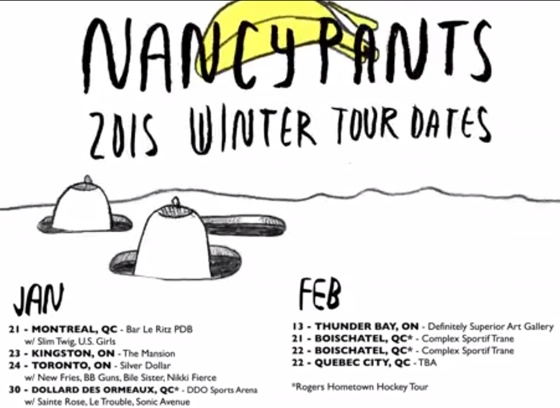 Nancy Pants Announce Ontario and Quebec Tour Dates