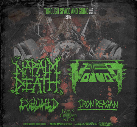 Napalm Death and Voivod Team Up for 'Through Space and Grind' North American Tour