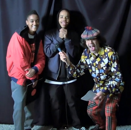 Nardwuar the Human Serviette vs. Earl Sweatshirt, Syd tha Kyd (video)