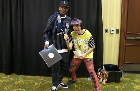 Nardwuar the Human Serviette vs. YG (video)