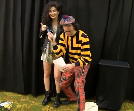 Nardwuar the Human Serviette vs. Charli XCX (video)
