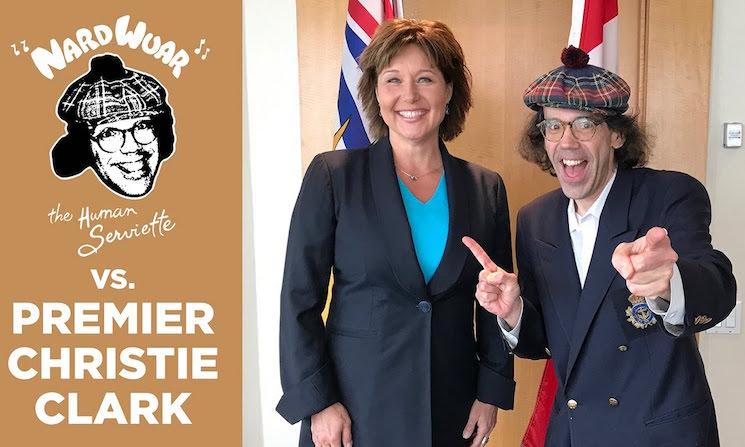 Nardwuar the Human Serviette vs. BC Premier Christy Clark