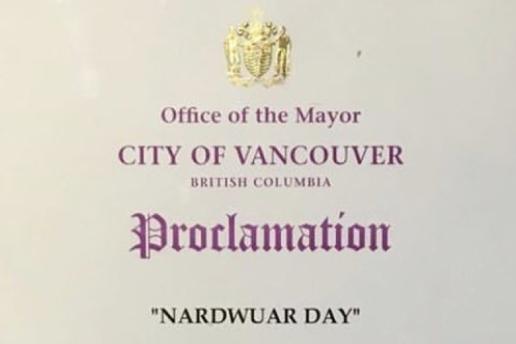 Nardwuar Day Declared by City of Vancouver