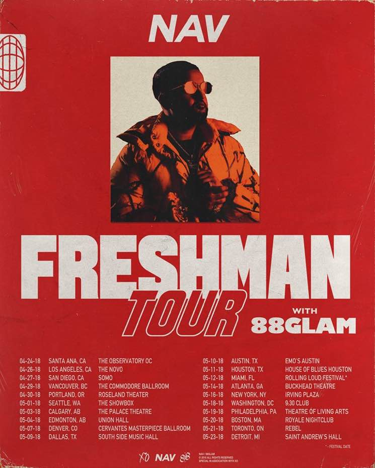"​NAV Maps Out ""Freshman Tour"" with 88GLAM"
