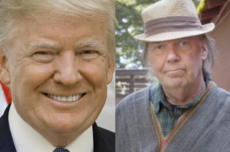 Neil Young Is Now Apparently Suing Donald Trump for Real