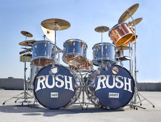 Neil Peart's First Rush Drum Kit Sells for Half a Million Dollars at Auction