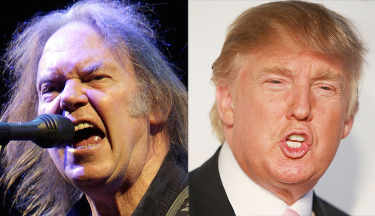 "Neil Young Releases Statement About Donald Trump's ""Rockin'"" Campaign"