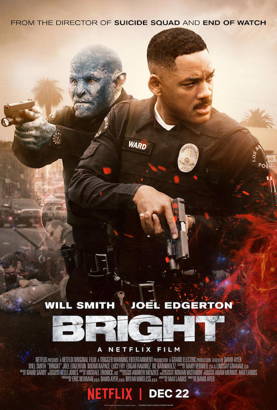 Here's the Official Poster for Netflix's Will Smith Movie 'Bright'