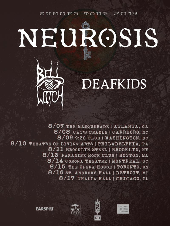 Neurosis Get Bell Witch and Deafkids for North American Tour