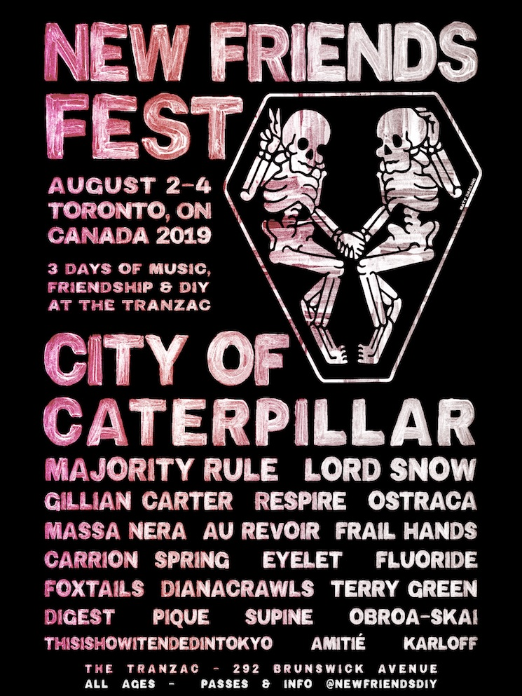 City of Caterpillar, Majority Rule Play Toronto's New Friends Fest