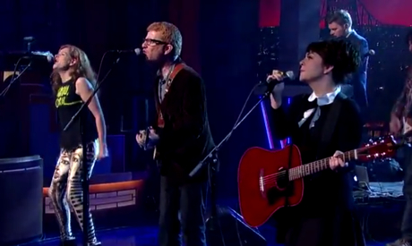 The New Pornographers 'Brill Bruisers' (live on 'Letterman')