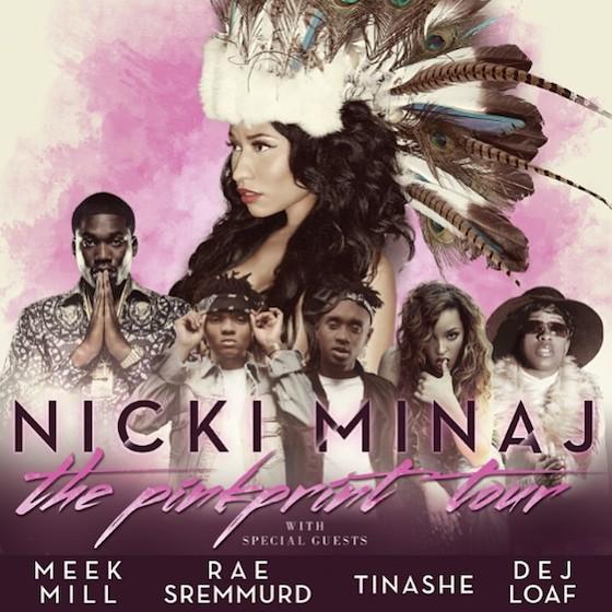 Nicki Minaj Announces Tour with Meek Mill, Rae Sremmurd, Tinashe and Dej Loaf