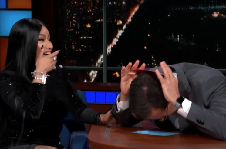 "​Nicki Minaj Adds Stephen Colbert Bar to ""Barbie Dreams"""