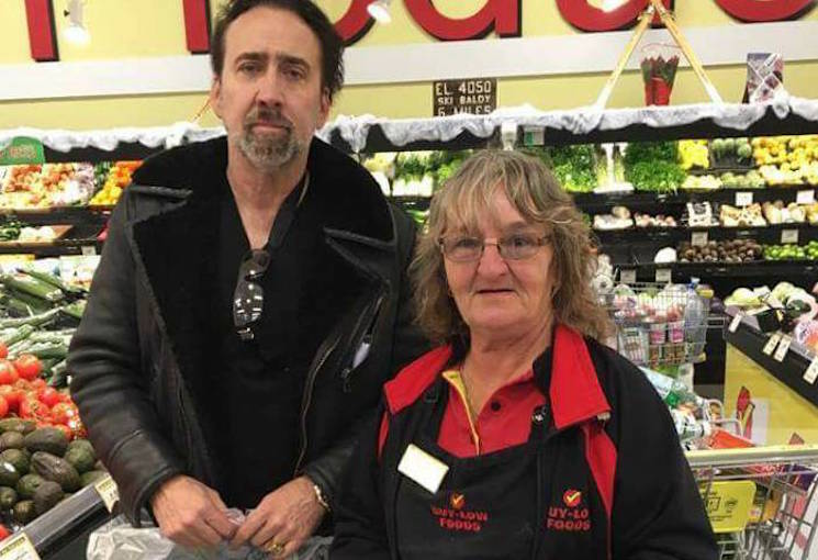 Nicolas Cage Spotted Grocery Shopping in Osoyoos