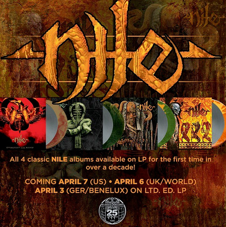 Nile Get Vinyl Reissues via Relapse
