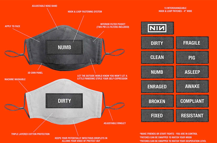 Nine Inch Nails Are Now Selling Face Masks to Let You Show 'Your Desperation Level'
