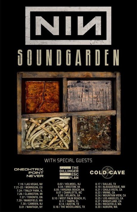 Nine Inch Nails and Soundgarden Replace Death Grips on Tour with Oneohtrix Point Never, Dillinger Escape Plan, Cold Cave