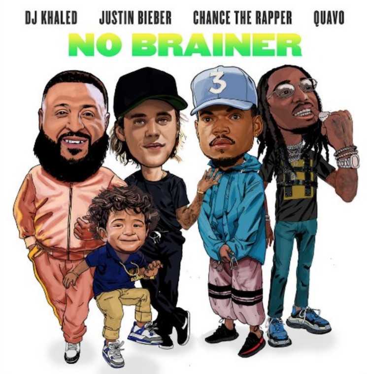 "DJ Khaled Joins Forces with Justin Bieber, Chance the Rapper and Quavo for ""No Brainer"""