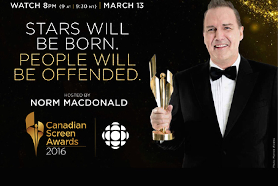 Canadian Screen Awards Announce 2016 Nominees