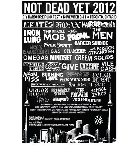 Toronto's Not Dead Yet Festival Brings Out the Men, Burning Love, Magrudergrind