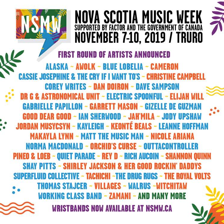 ​Nova Scotia Music Week Announces 2019 Lineup