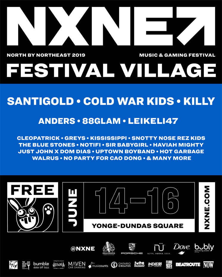 NXNE Reveals 2019 Festival Village Lineup with Santigold, Cold War Kids, Killy