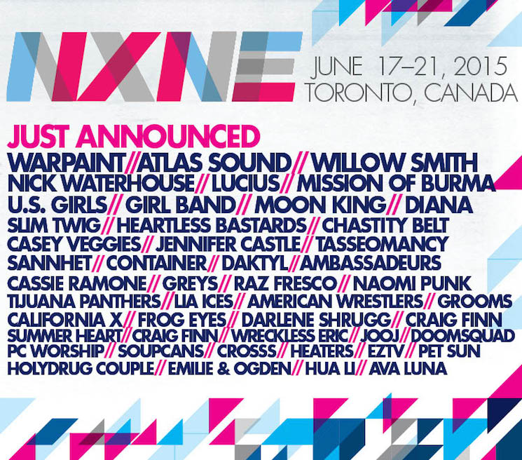 NXNE Expands 2015 Lineup with Warpaint, Atlas Sound, Mission of Burma