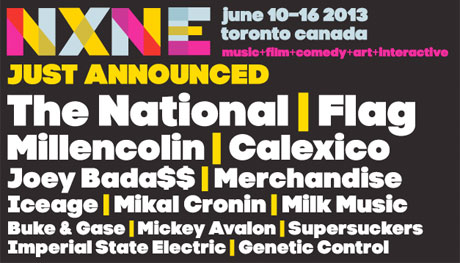 NXNE Announces Initial 2013 Lineup with the National, FLAG, Iceage, Joey Bada$$