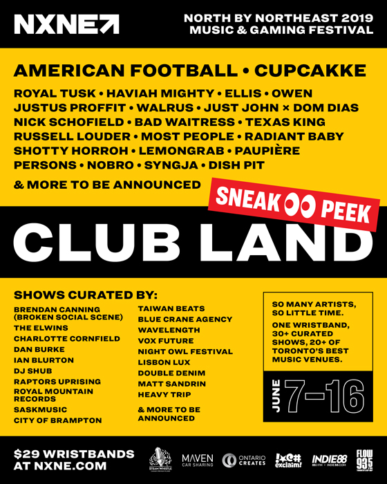 NXNE Announces 2019 Lineup with American Football, CupcakKe