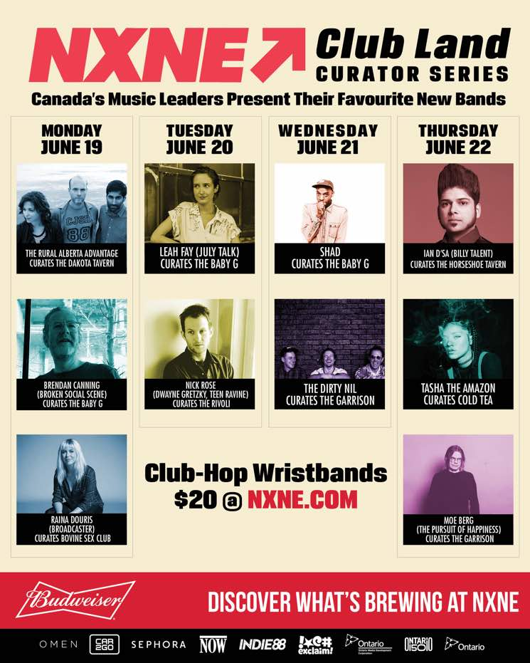 NXNE Reveals Guest-Curated Club Land Lineups