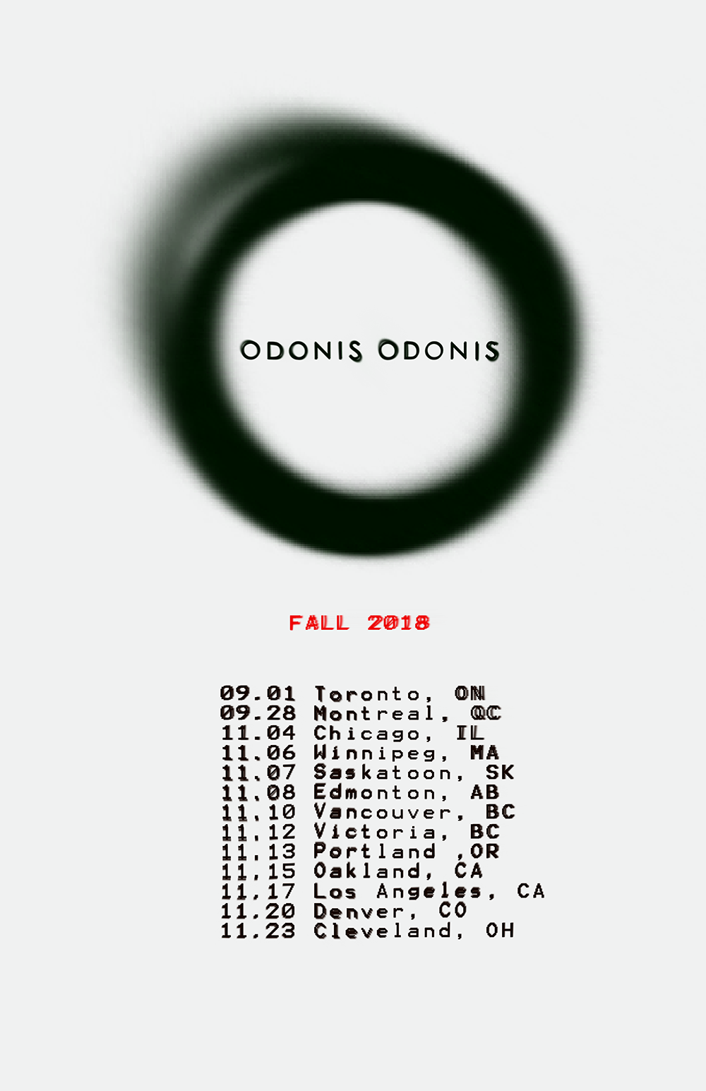 Odonis Odonis Announce Fall North American Tour