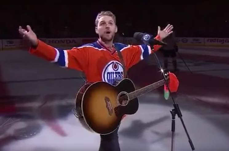 "​Edmonton Oilers Fans Step In for Brett Kissel to Sing ""The Star-Spangled Banner"" After Mic Failure"