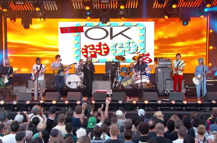 ​Watch OK Go and the Go-Go's Perform as the OK Go-Gos on 'Jimmy Kimmel Live'