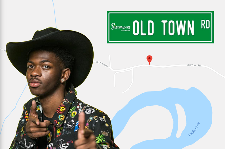 People Are Stealing 'Old Town Road' Signs from Sicamous, BC
